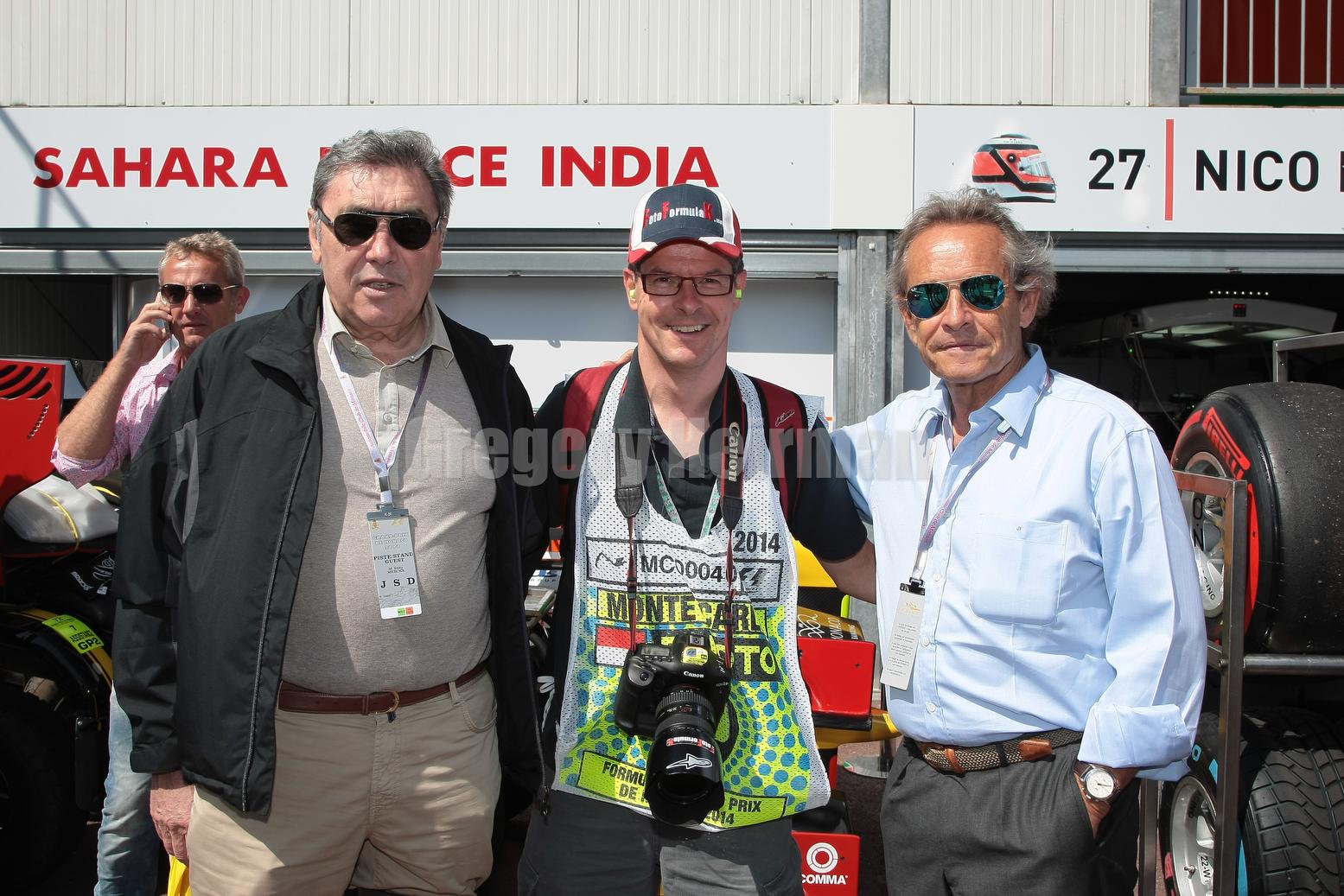 With his two childhood idols, Eddy Merckx and Jacky Ickx